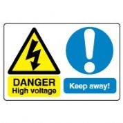 Multiple safety sign - High Voltage 016